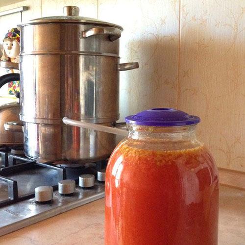 Заготовка соков на зиму через соковарку